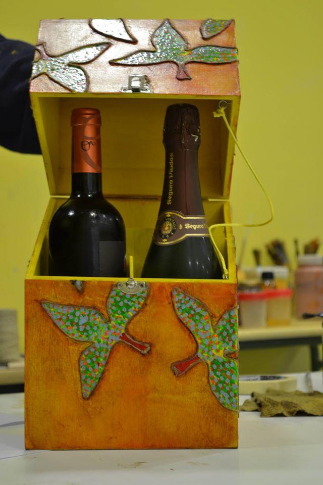 Botellero – Caja madera.